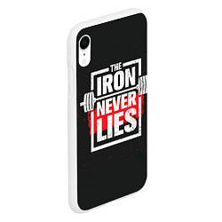 Чехол iPhone XR матовый The iron never lies цвета 3D-белый — фото 2
