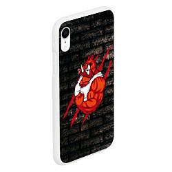 Чехол iPhone XR матовый Кабан-качок цвета 3D-белый — фото 2