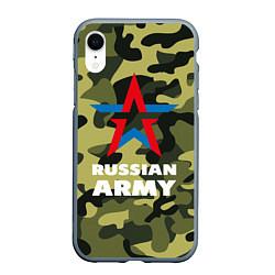Чехол iPhone XR матовый Russian army цвета 3D-серый — фото 1
