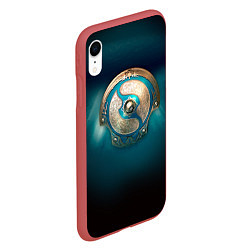 Чехол iPhone XR матовый The International: Blue Aegis цвета 3D-красный — фото 2
