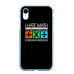 Чехол iPhone XR матовый Ed Sheeran: I hate math цвета 3D-голубой — фото 1