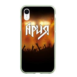 Чехол iPhone XR матовый Ария цвета 3D-салатовый — фото 1