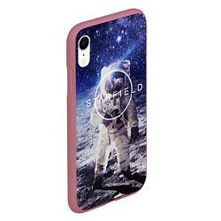 Чехол iPhone XR матовый Starfield: Astronaut цвета 3D-малиновый — фото 2