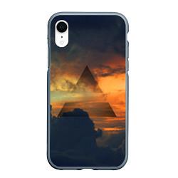 Чехол iPhone XR матовый 30 seconds to mars цвета 3D-серый — фото 1