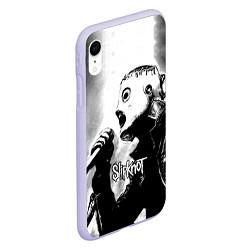 Чехол iPhone XR матовый Slipknot цвета 3D-светло-сиреневый — фото 2