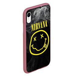 Чехол iPhone XR матовый Nirvana Smoke цвета 3D-малиновый — фото 2