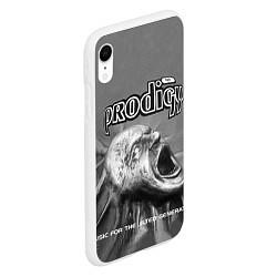 Чехол iPhone XR матовый The Prodigy: Madness цвета 3D-белый — фото 2