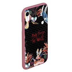 Чехол iPhone XR матовый Pink Floyd: The Wall цвета 3D-малиновый — фото 2