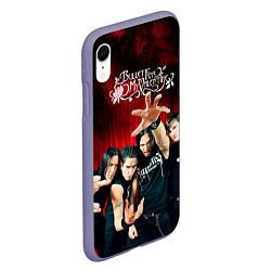 Чехол iPhone XR матовый Bullet for my valentine цвета 3D-серый — фото 2