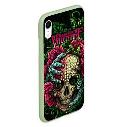 Чехол iPhone XR матовый BFMV: Roses Skull цвета 3D-салатовый — фото 2
