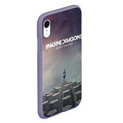 Чехол iPhone XR матовый Imagine Dragons: Night Visions цвета 3D-серый — фото 2