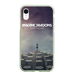 Чехол iPhone XR матовый Imagine Dragons: Night Visions цвета 3D-салатовый — фото 1