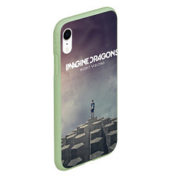 Чехол для iPhone XR матовый с принтом Imagine Dragons: Night Visions, цвет: 3D-салатовый, артикул: 10064384305903 — фото 2