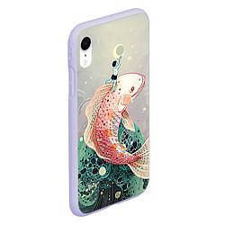 Чехол iPhone XR матовый Рыба цвета 3D-светло-сиреневый — фото 2