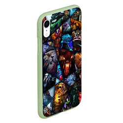 Чехол iPhone XR матовый Dota 2: All Pick цвета 3D-салатовый — фото 2