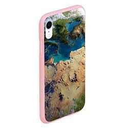 Чехол iPhone XR матовый Земля цвета 3D-баблгам — фото 2