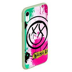 Чехол iPhone XR матовый Blink-182: Purple Smile цвета 3D-салатовый — фото 2