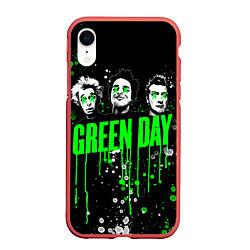 Чехол iPhone XR матовый Green Day: Acid Colour цвета 3D-красный — фото 1