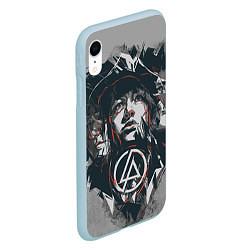 Чехол iPhone XR матовый Linkin Park: My Style цвета 3D-голубой — фото 2