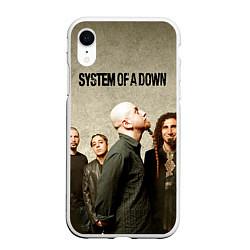 Чехол iPhone XR матовый System of a Down цвета 3D-белый — фото 1
