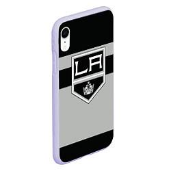 Чехол iPhone XR матовый Los Angeles Kings цвета 3D-светло-сиреневый — фото 2