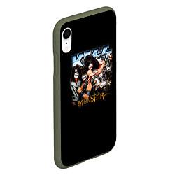 Чехол iPhone XR матовый Kiss Monster цвета 3D-темно-зеленый — фото 2