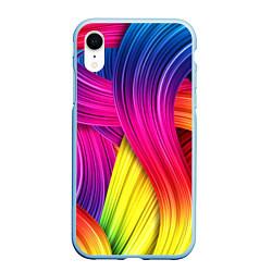 Чехол iPhone XR матовый Абстракция цвета цвета 3D-голубой — фото 1