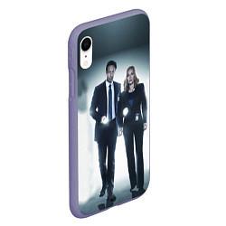 Чехол iPhone XR матовый Малдер и Скалли цвета 3D-серый — фото 2