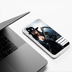 Чехол iPhone XS Max матовый Гробовщик 1 цвета 3D-белый — фото 2