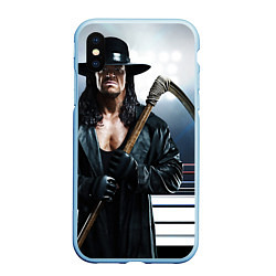 Чехол iPhone XS Max матовый Гробовщик 1 цвета 3D-голубой — фото 1