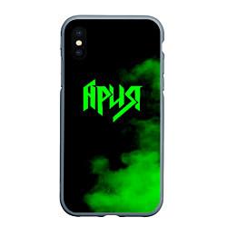 Чехол iPhone XS Max матовый Ария цвета 3D-серый — фото 1