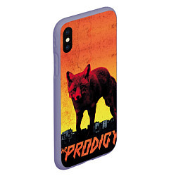 Чехол iPhone XS Max матовый The Prodigy: Red Fox цвета 3D-серый — фото 2