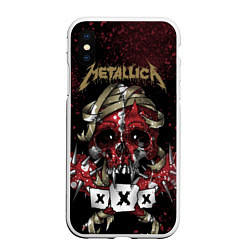 Чехол iPhone XS Max матовый Metallica: XXX цвета 3D-белый — фото 1