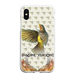 Чехол iPhone XS Max матовый Imagine Dragons: Fly цвета 3D-белый — фото 1