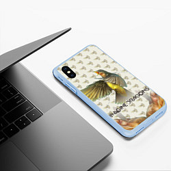 Чехол iPhone XS Max матовый Imagine Dragons: Fly цвета 3D-голубой — фото 2