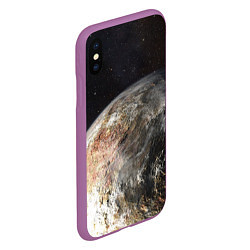 Чехол iPhone XS Max матовый Плутон цвета 3D-фиолетовый — фото 2