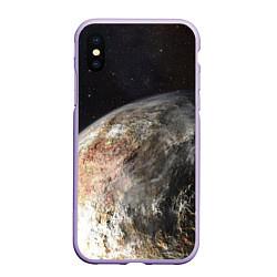 Чехол iPhone XS Max матовый Плутон цвета 3D-светло-сиреневый — фото 1