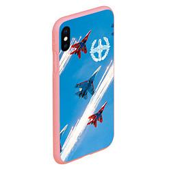 Чехол iPhone XS Max матовый Самолеты ВВС цвета 3D-баблгам — фото 2