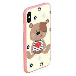Чехол iPhone XS Max матовый Любовь мишки цвета 3D-баблгам — фото 2