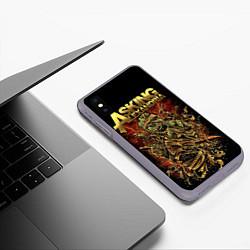 Чехол iPhone XS Max матовый Asking Alexandria цвета 3D-серый — фото 2