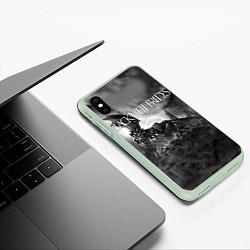 Чехол iPhone XS Max матовый Black Veil Brides: Faithless цвета 3D-салатовый — фото 2