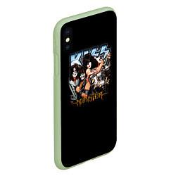 Чехол iPhone XS Max матовый Kiss Monster цвета 3D-салатовый — фото 2