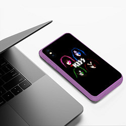 Чехол iPhone XS Max матовый KISS: Acid Colours цвета 3D-фиолетовый — фото 2