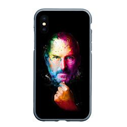 Чехол iPhone XS Max матовый Стив Джобс цвета 3D-серый — фото 1