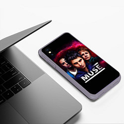 Чехол iPhone XS Max матовый Muse Band цвета 3D-серый — фото 2