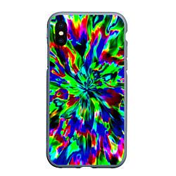 Чехол iPhone XS Max матовый Оксид красок цвета 3D-серый — фото 1