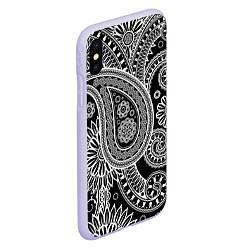 Чехол iPhone XS Max матовый Paisley цвета 3D-светло-сиреневый — фото 2