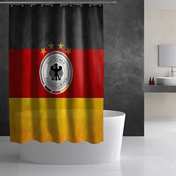 Шторка для душа Сборная Германии цвета 3D-принт — фото 2