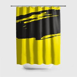 Шторка для душа Чёрно-жёлтый цвета 3D — фото 1