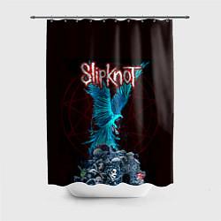 Шторка для душа Орел группа Slipknot цвета 3D-принт — фото 1